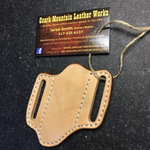 Handmade Leather Trapper Knife Sheath