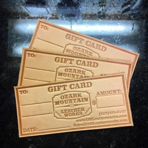 Ozark Mountain Leather Works Gift Cards