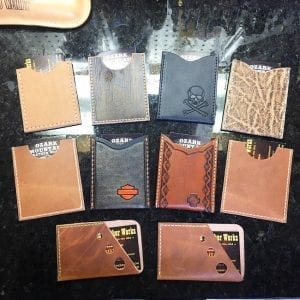 Handmade Leather Business Card Sleeve