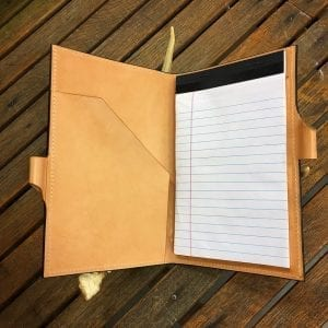 Handmade Leather Junior Padfolio Legal Pad